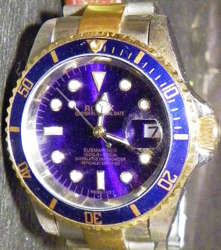 Rolex STYLE Submariner Superlative Chrometer Oyster Perpetual Date Wrist Watch