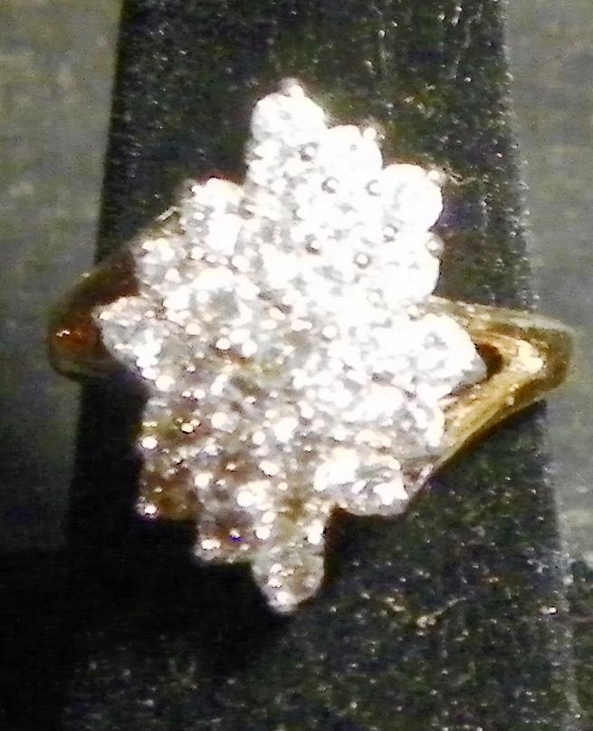 Rhinestone Diamond Cluster Ring