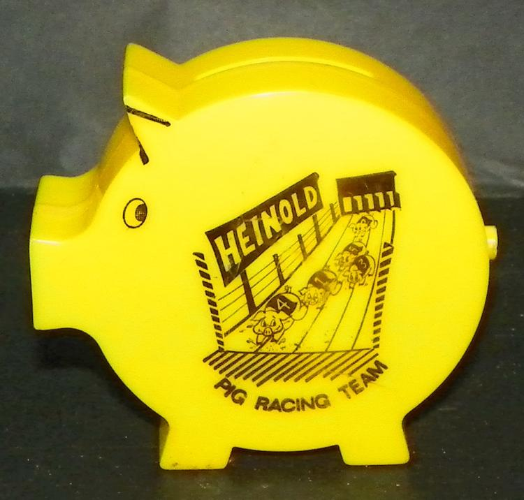 Heinold Pig Racing Advertising Bank