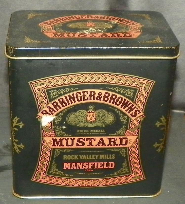 Barringer & Browns Metal Mustard Advertising Box