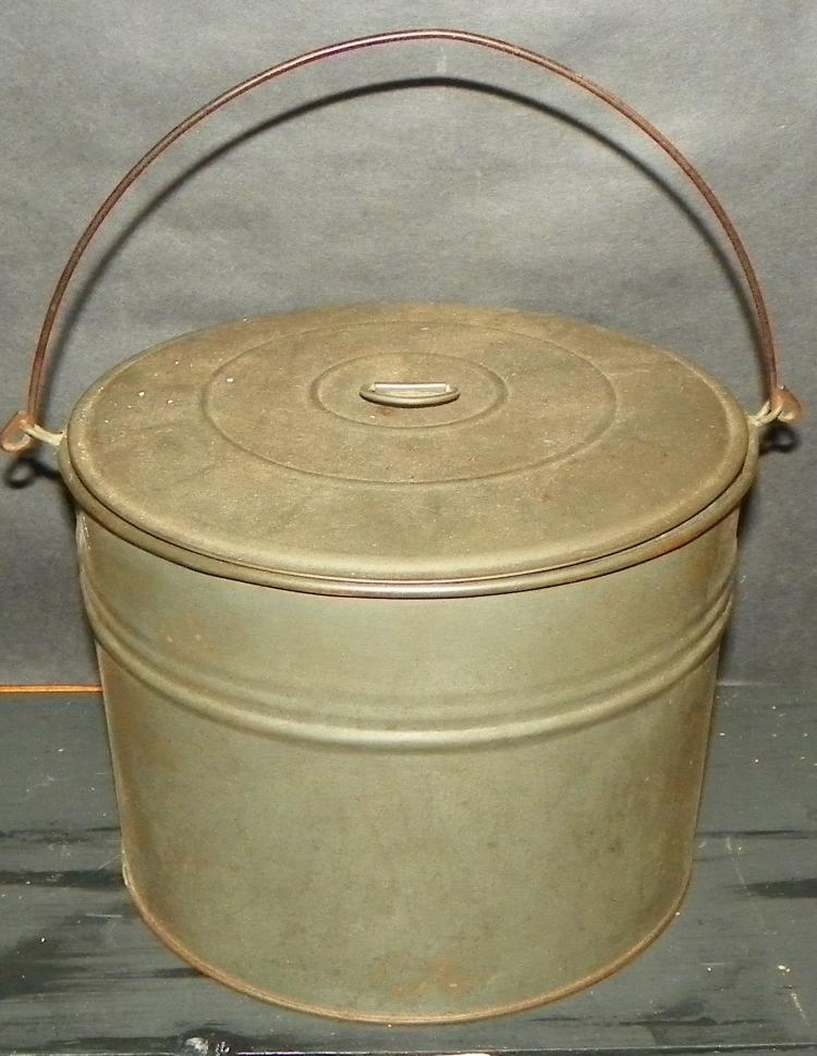 Round Tin Handled Pail
