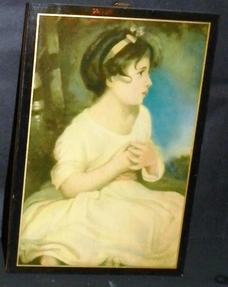 Wood Plaque Print - Girl in Pink Dress