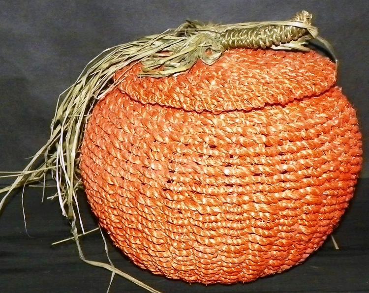 Woven Jute Pumpkin Décor