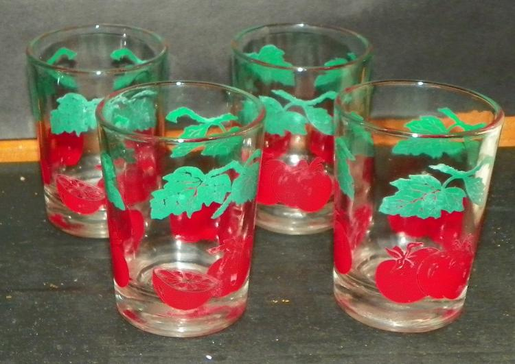 Collection of 4 Federal Juice Glasses