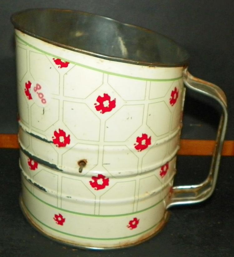 Hand painted Metal Sifter
