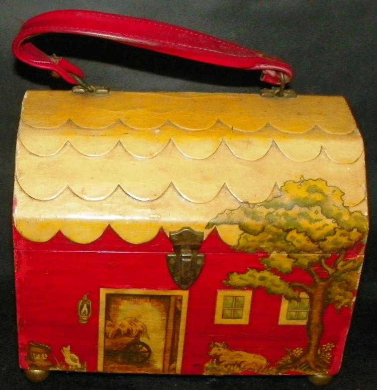 Decoupage Red Barn Pocketbook