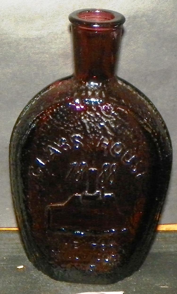 Wheaton Amethyst 1888 Benjamin Franklin Bottle
