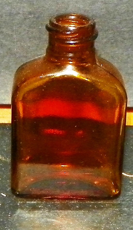Rectangle Amber Bottle