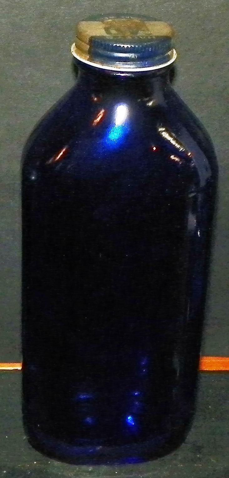 Milk of Magnesia Cobalt Blue Bottle