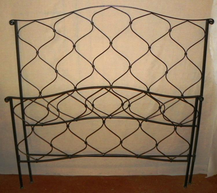 Contemporary Wrought Iron Bed Queen