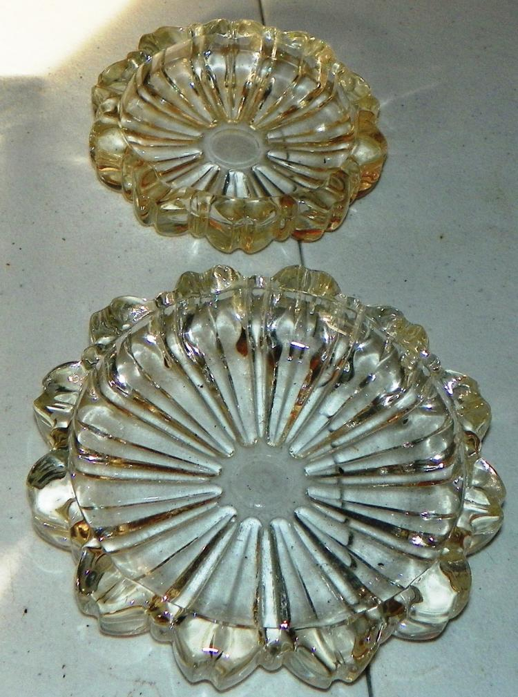 2 Crystal Ashtrays