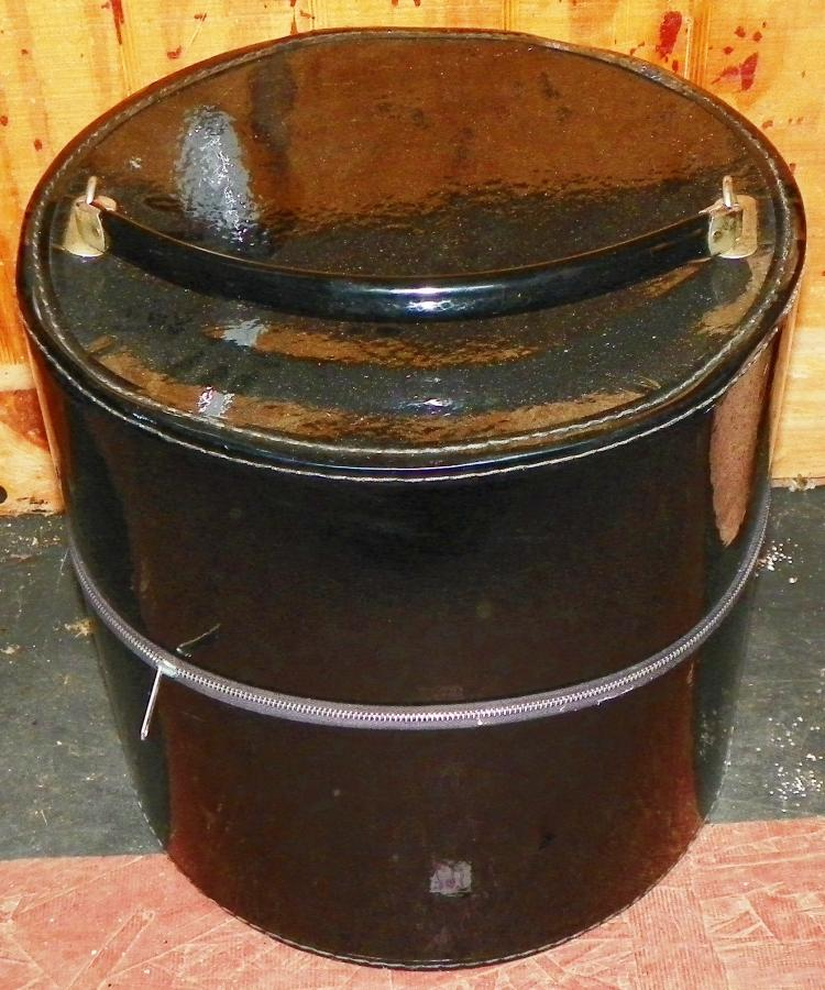 Patent Leather Hat Box