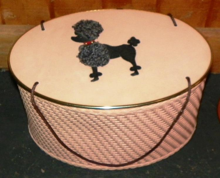 Oval Wicker Poodle Sewing Box