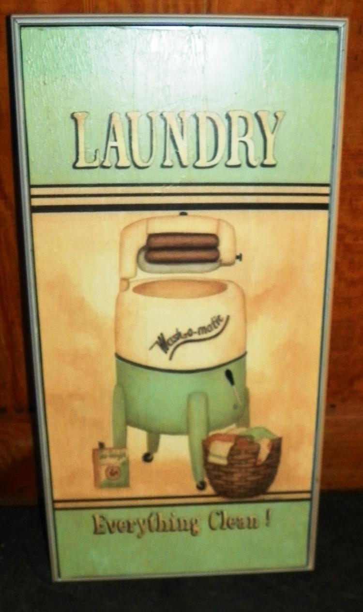 Contemporary Retro Laundry Sign