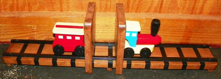 Handcrafted Child's Train Book Rack