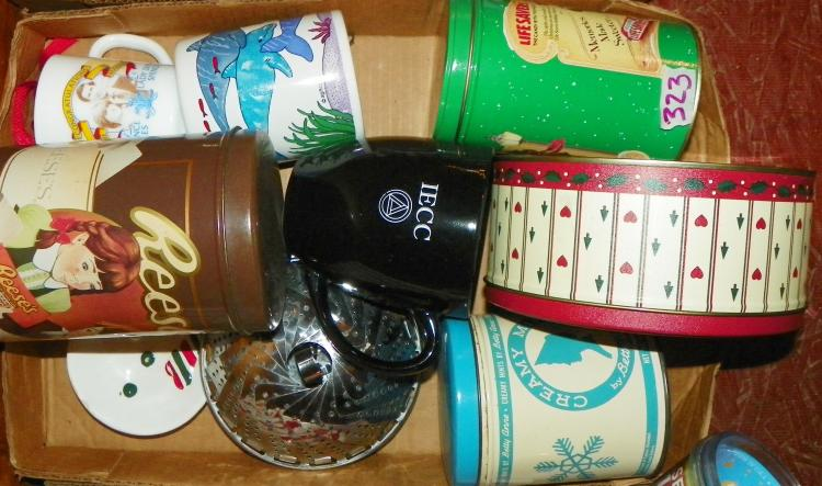 Box Lot -  Tins and Mugs