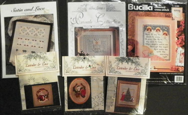 Box Lot - Collection 6 Various Cross Stitch Project Pouches