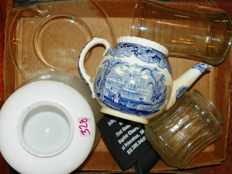 Box Lot - Light Fixtures and Teapot