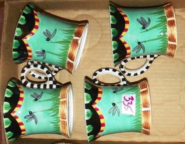 Box Lot -  4 Decorative Coffee Mugs