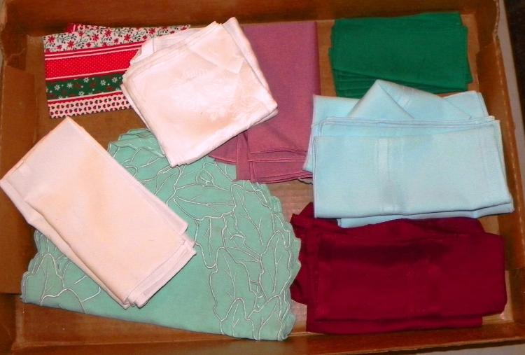 Box Lot - Various Linen Napkins