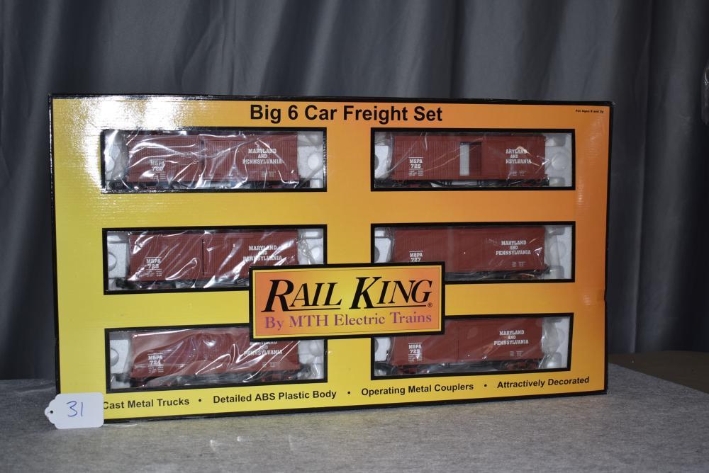 Rail King Maryland & Pennsylvania 34' Box Car - 19th Century 6 Car Set #30-7023