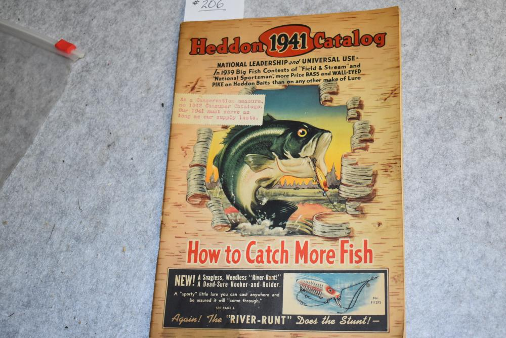 Heddon 1941 catalogue (has note on cover) 1941 &42 war year catalog