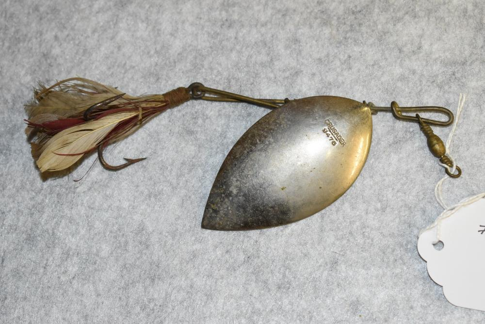 """Crusader Spinner #9476 – Blade is Large & Measures 3¼"""" in Length – Has Feathered Treble Hook"""