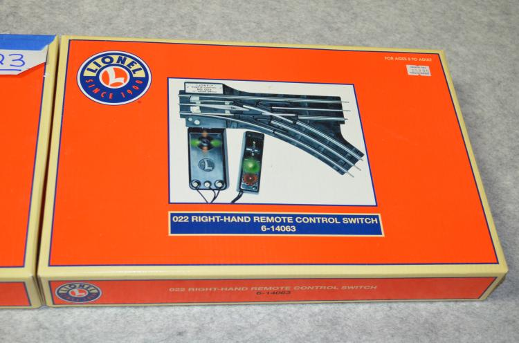 Lionel Remote Control Switches 022 in Box Left- and Right-Hand