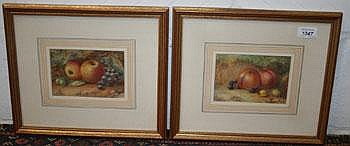 Harry Stinton (1882-1968) pair watercolours -