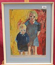 Felix Gluck (1923 - 1981), signed lithograph - two