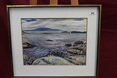 Hugh Cronyn (1905 - 1996), watercolour - Oak Bay,