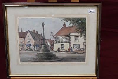Watson Wood (1900 - 1985), watercolour - Dedham Hi