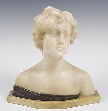 Paolo Fanfani (1823-1893) alabaster and bronze