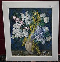 Gwen Whicker (1900 - 1966) oil on board in frame,