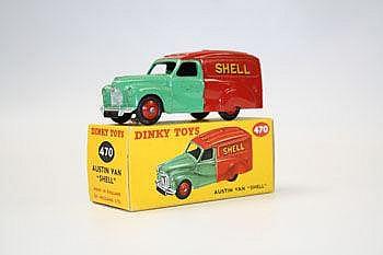 Dinky - Austin Van - Shell, no. 470, boxed