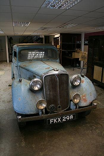 1939 Rover 14 Saloon. Registration no. FKX 298.
