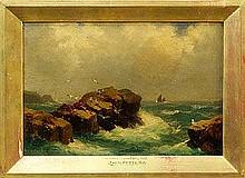 John Brett R.A. (1831 - 1902), oil on panel in