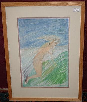 * John Doubleday (born 1947) pencil, watercolour
