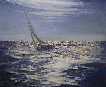 Frederick Bertrand Harnack (Fid) (1897 - 1983) oil