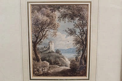 Mary E. Bennett (fl. 1810 - 1825), watercolour - view to the chateau de Tan