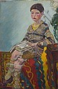 Clare Winsten (1894-1989) oil on canvas - portrait, Clare Winsten, Click for value