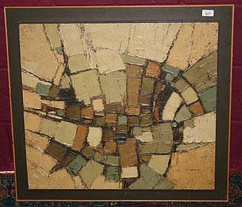 David Hazelwood (1932-1994) mixed media abstract