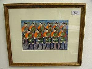 Michael Coulter 1992 - gouache in glazed frame -