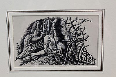 Eric George Fraser (1902 - 1984), pen and ink - Aeschylus's Plays and