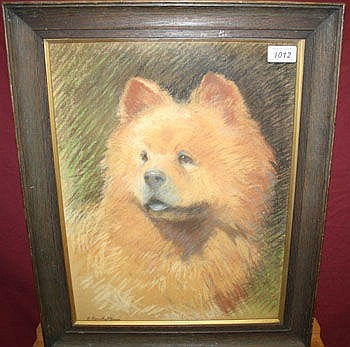 Faith Kenworthy-Browne, pastel portrait of a dog -