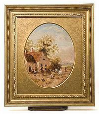 Georgina Lara (act.1840-1880) pair oils on canvas
