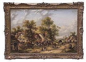 Georgina Lara (act.1840-1880) oil on canvas in