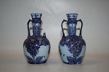Pair of James Macintyre & Co Florian ware
