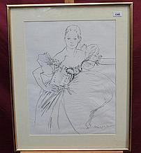 Trevor Willoughby (1926 - 1995), pencil study - po