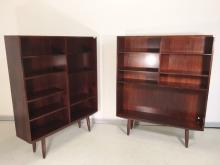 ROSEWOOD BOOKCASE SET OF 2